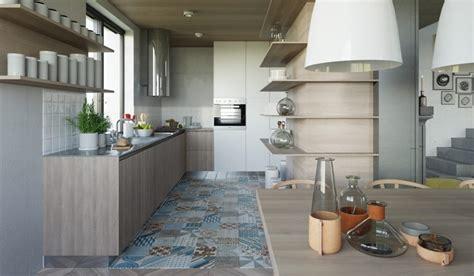 Sol Cuisine Ouverte Salon cuisine ouverte sur salon aux accents gris et jaunes