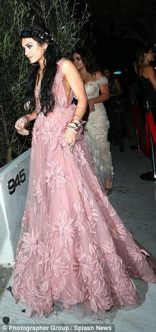 Fanessa Dress Pink Pink hudgens and stella coordinate at mtv vmas