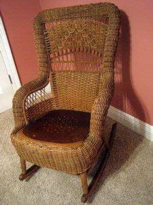 antique wicker rocker rocking chair nr