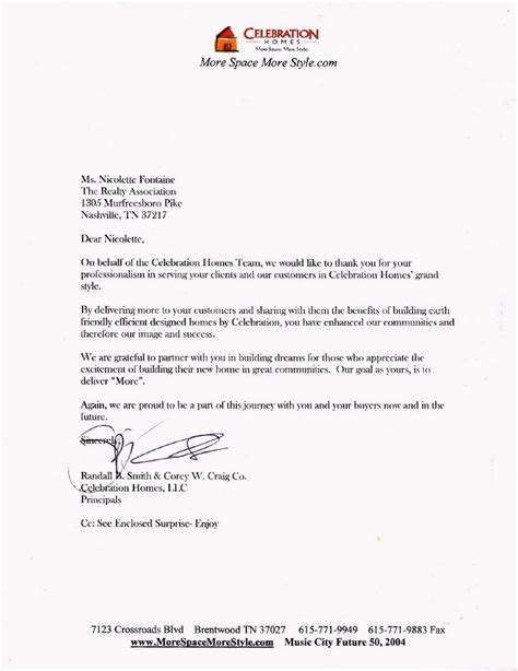 Letter Of Recommendation Builder letter of recommendation from celebration homes new home
