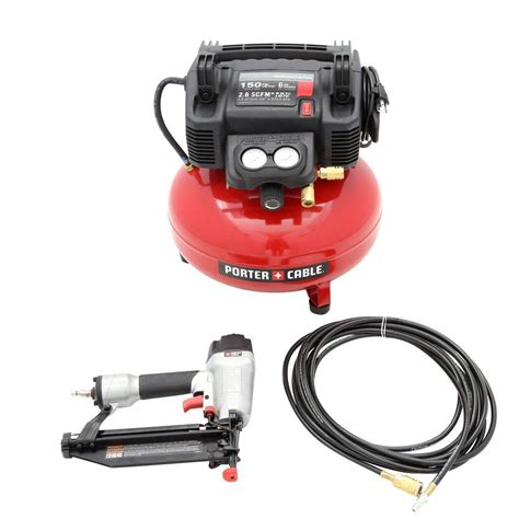 porter cable air compressor 6 gal 16 18 nailer stapler combo kit