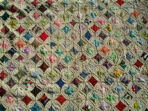 Cathedral Quilts by Amazing Beautiful Antique Cathedral Window Quilt