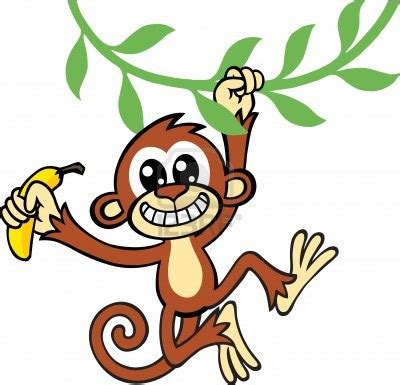 cartoon monkey swinging on a vine swinging monkey clip art cliparts co
