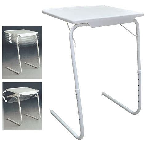 Travel High Chair With Tray Adjustable Folding Table Tv Dinner Coffee Laptop Table