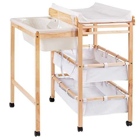 toddler changing table baby toddler changing table with integrated bath tub unit