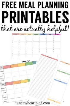 Printable Meal Planner By Carrie Lindsey | 1000 ideas about meal planning printable on pinterest