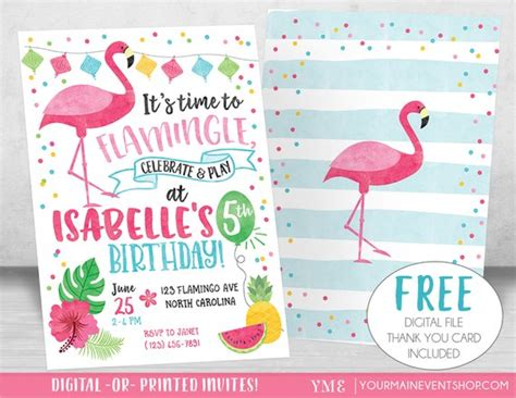 Flamingo Invitation Let S Flamingle Invitation Flamingo Flamingo Invitation Template Free