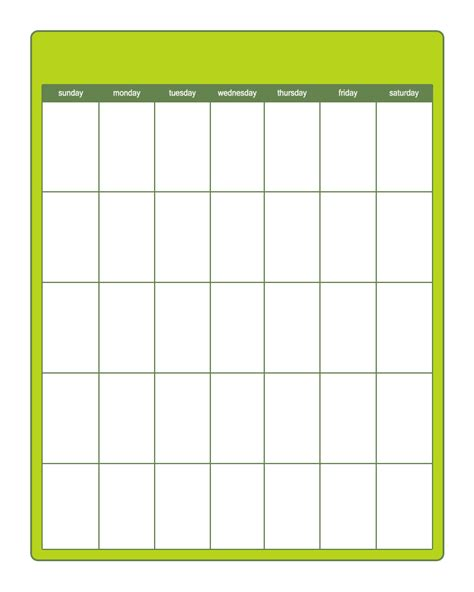 free templates for calendars free blank calendar template