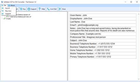 format csv tool softaken vcf to csv converter download