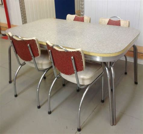 retro vintage 1950 s laminate kitchen table 4 chairs