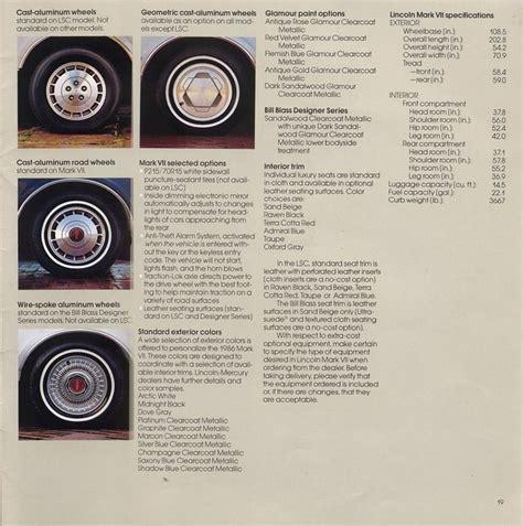 all car manuals free 1986 lincoln continental engine control directory index lincoln 1986 lincoln 1986 lincoln continental mark vii brochure