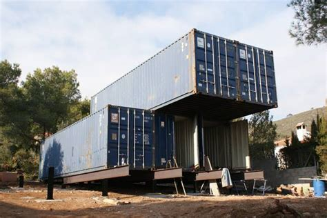 Log Homes Plans by Cantilevered Shipping Container Home 7