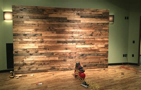 how to distress wood create a faux pallet wall time for a project