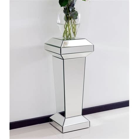 mirrored pedestal stand furniture from - Mirrored Stand