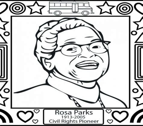rosa parks coloring printable coloring pictures of rosa