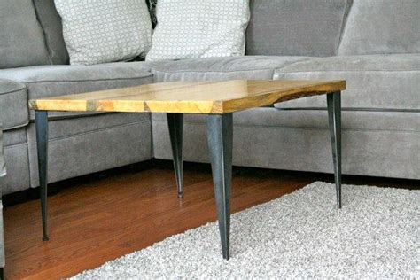 diy modern table legs matched coffee table end table with tapered angle iron legs