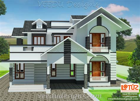 House Design Style 2015 by Veedu Designs July 2015