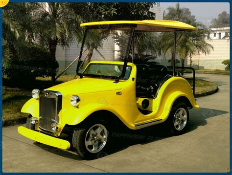 Auto Golf Cart by Electric Club Car Golf Cart With Door 4 Seats Lemon Yellow