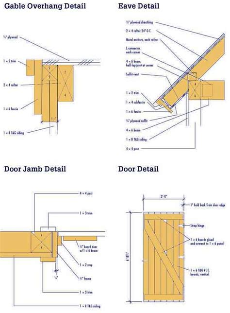 Shed Construction Details by 8 215 10 Wood Shed Plans Complete Blueprints For A Shed