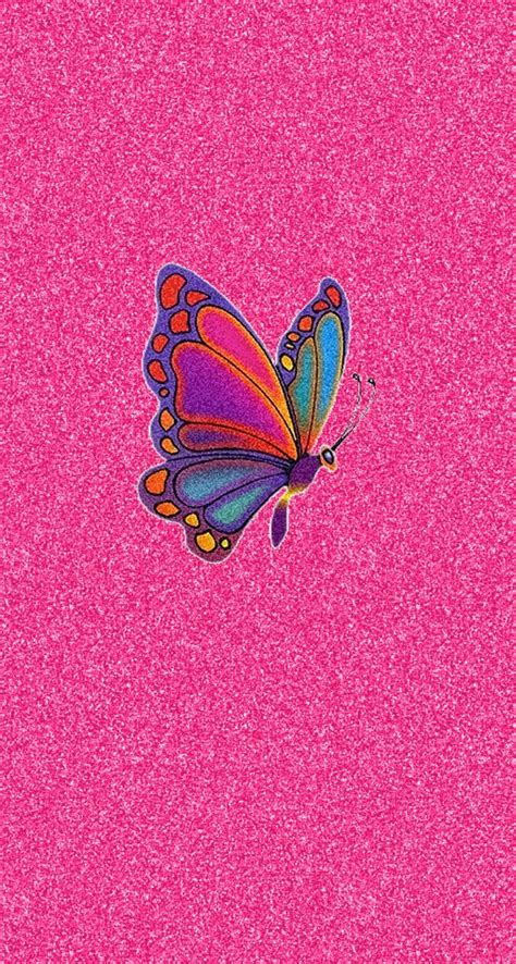 pink glitter colorful butterfly iphone wallpaper color