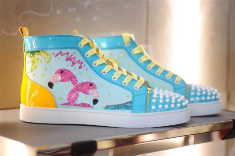 of miami sneakers christian louboutin s quot miami quot sneaker is so miami