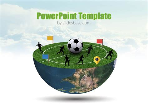 3d soccer pitch powerpoint template football planet powerpoint template slidesbase