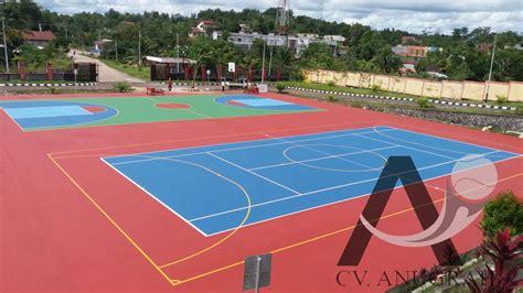 Floor Marking Warna Kuning lapangan multifungsi jasa lapangan tenis