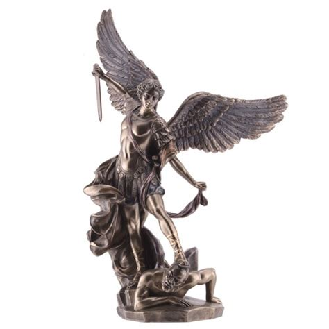 st michael bronze finish statue 14 quot the catholic company