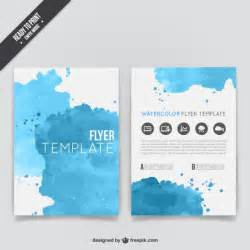 Template To Make A Flyer by Watercolor Flyer Template Vector Free
