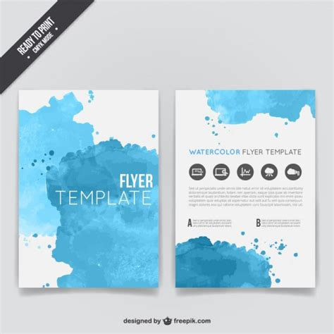 templates flyer download watercolor flyer template vector free download
