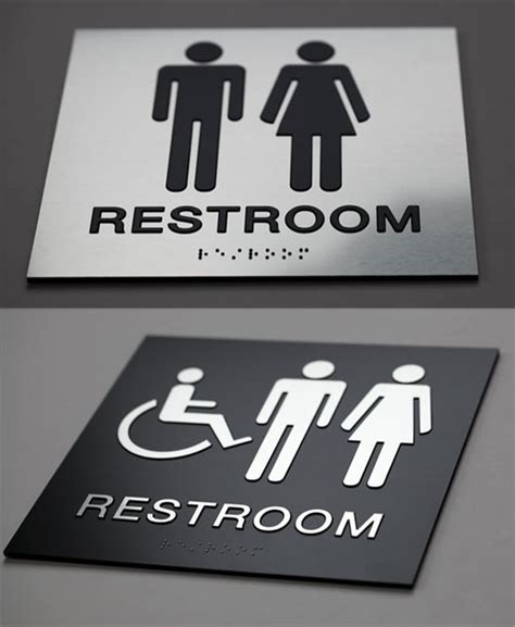 Bathroom Signs For Office Braille Signs Health Care Ada Signs