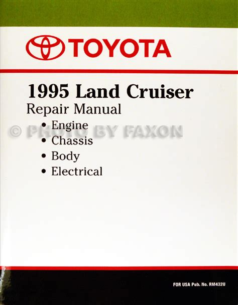 auto manual repair 2001 toyota land cruiser instrument cluster 1995 toyota land cruiser repair shop manual factory reprint