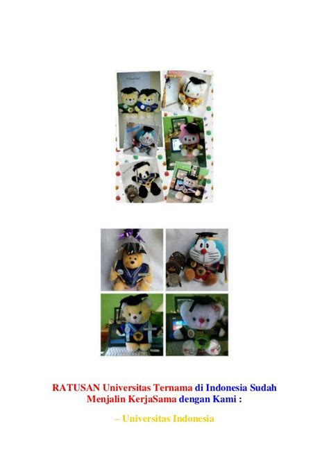 Boneka Wisuda Panda 0812 9526 6220 boneka wisuda panda