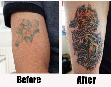 tattoo cover up pictures before and after tattoos breakerwords