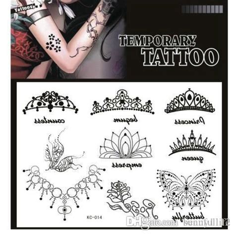 tattoo generator fake lovely black crown temporary tattoos for arms girls crown