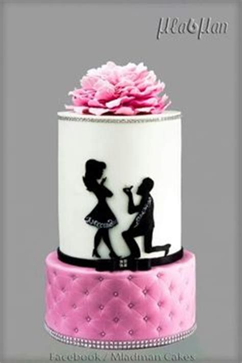 need ideas for engagement cakes image result for engagement silhouette cake cakes