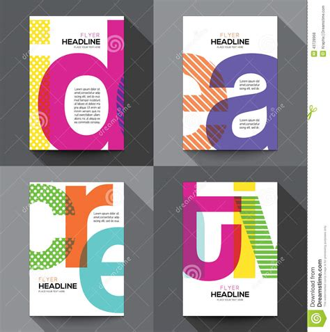 creative flyer templates free creative flyer design template stock vector image 43728968