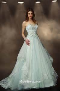 colored wedding dress gorgeous mint colored beaded a line tulle wedding dress