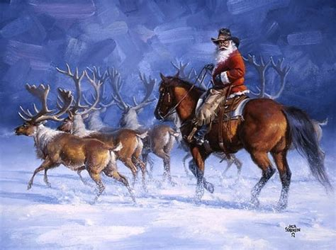 cowboy santa merry christmas pinterest