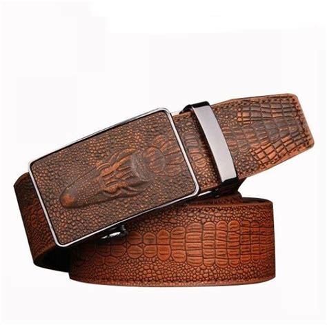 crocodile pattern genuine leather belts for belt croco