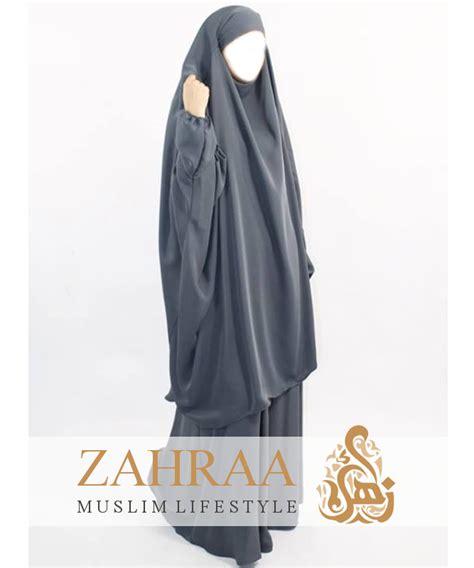 Khimar Khimar Zahra Petkhimar Syari jilbab aisha grau khimar rock zahraa