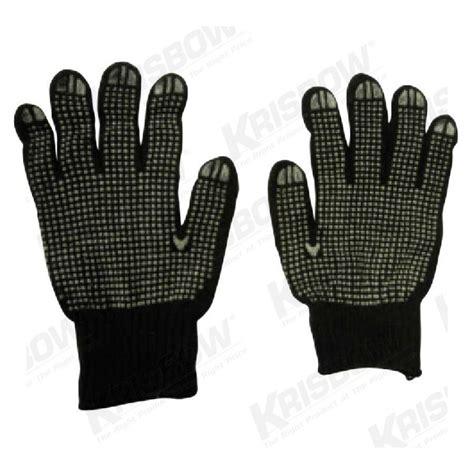 Sarung Tangan Dotting jual sarung tangan krisbow pvc dot 9in black cotton 12pr