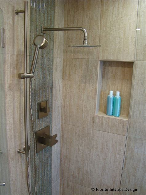 Design Journal Archinterious Waterfall Shower Enclosure Fiorito Interior Design An Island Bathroom By Fiorito