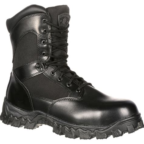 rockies boots for alphaforce zipper waterproof duty boot by rocky boots