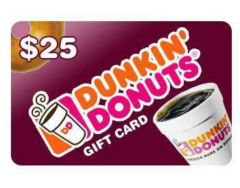 Bid On Gift Cards For Free - free 15 00 fifteen dollar dunkin donuts gift card bid to win free