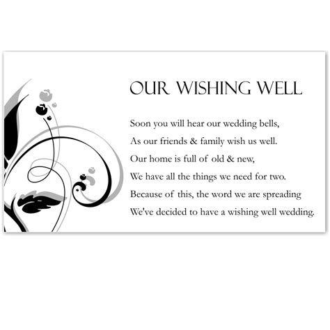 wishing well cards free templates budget wedding invitations thank you card modern classic