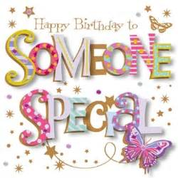 talking pictures happy birthday to someone special card