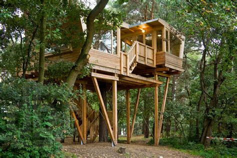 treehouse design software almke treehouse by baumraum provides gathering place for