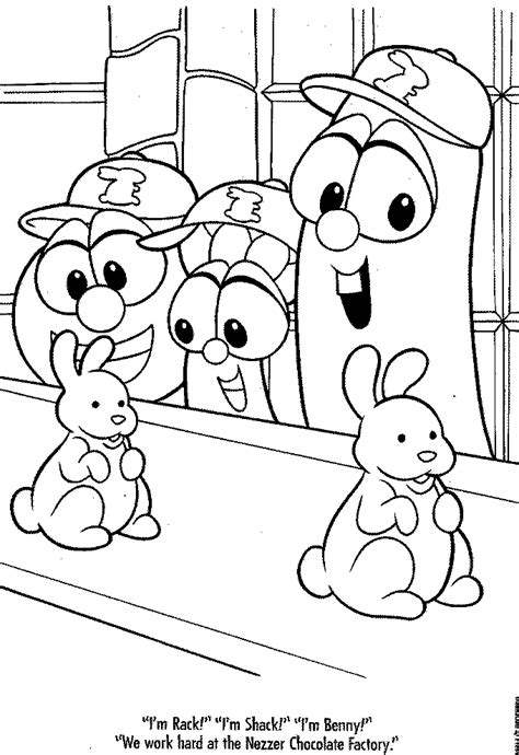 veggietales bob coloring pages coloring pages
