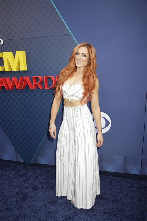 becky lynch maren morris ryan hurd spotted  acm awards